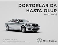 """""""Doctors Get Sick Too"""" Mercedes Doctors Day Ad"""