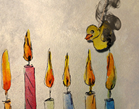 iPad Hanukkah application- Burn