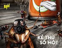 "Raid Ads - ""The Mortal Enemy"" campaign (concept)"