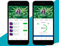 Mobile App Design for Cannabis Company