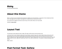 Blahg - A minimal WordPress blog theme