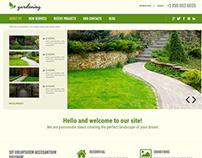 Gardening Joomla Template