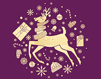 Reindeer in foil : Apparel