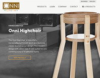 Onni Highchair Commerce Design & Photography