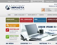Site da Faculdade Impacta
