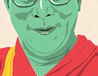Dalai Lama Illustration