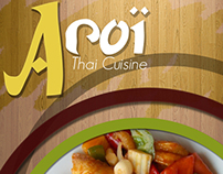 Aroï -Thai Cuisine Menu Design