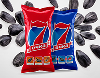Sunflower seeds logo and packaging