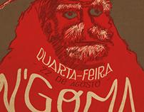 Design Poster of N'Goma Moçambique @ Clube Ferroviário