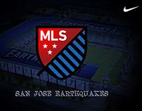 San Jose Earthquakes Soccer Club - Nike sponsor