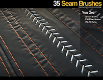 ZBrush - 35 Seam/Stitch Brushes