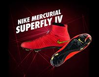 Diseño de Tab para Netshoes de tenis Mercurial Superfly