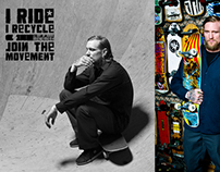 Skateboarder Mike Vallely for IRide IRecycle