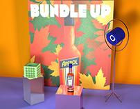 Allestimento spazio espositivo Aperol /BUNDLE UP