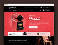 Daily UI #3 - Landing page UI - Nespresso.com redesign