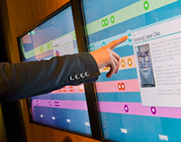 Touchscreen kiosks for Rockheim