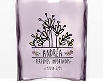Logotipo Andréa Perfumes Importados