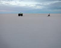 Snowboarding on the Salt Flats