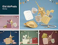 Eid AirPods Mockup