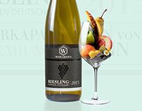 WineGenius-Riesling Wine Label Design & Online Branding