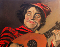 Jester with a Lute ( Frans Hals Masters Copy)