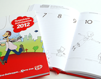 illustrations for the Kit Kat promo calendar 2012