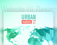 Urban Matters For All -Website UI Design