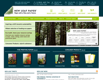 New Leaf Paper Web Redesign
