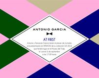 Imagen nueva colección S/S 2013 para ANTONIO GARCIA