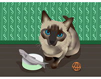 Willow the Rescue Kitten Greeting Card Design