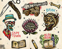 """Chappies"" 2 - Tattoo Flash with a local twist"