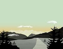 Misty Mountain II | Digital Art
