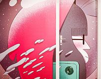 """""""Floor 4"""" Wall illustration"""