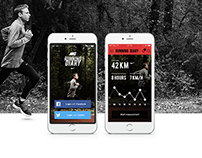 Nike Running diary application concept