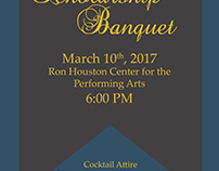 Inaugural Scholarship Banquet Flyer