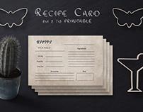 Free Tan Recipe Card Template