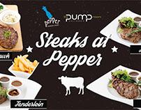 Pepper Steakhouse Murals