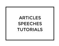 Articles, speeches and tutorials by Mondlicht Studios