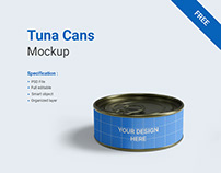 Free Tuna Cans Mockup