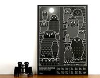 Owls of Europe — Glow-in-the-dark Screenprint