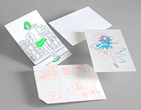 穴吹デザイン専門学校グラフィックデザイン学科配布ポストカード