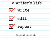 a writer's life Instagram post