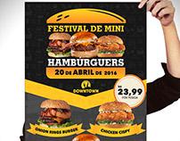 Cartaz | Festival de Mini Hambúrguers | Downtown