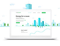 Energy for a cause | Website redesign | Energy solution