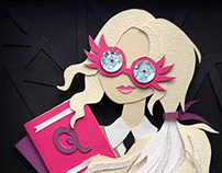 Luna Lovegood - Paper Art