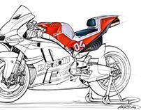 Ducati Desmosedici GP Sketch