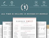 Top 10 Word Resume Bundle