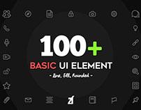 Basic UI Element Icons by Chanut Wongrattana