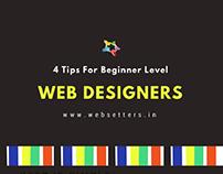 4 Tips for Beginner Level Web Designers