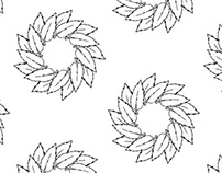 One leaf wreath (PatterNodes pattern)